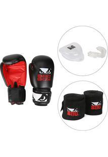 81284b8ca Kit Luva De Boxe   Muay Thai Bad Boy 10 Oz + Bandagem Elástica Bad Boy