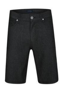 Bermuda Jeans Pierre Cardin Active Masculina - Masculino-Preto