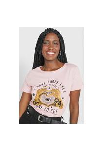 Camiseta Polo Wear Eyes Rosa