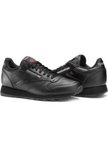 Tênis Reebok Classic Leather - Masculino-Preto+Branco