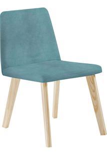 Cadeira Piqui F54-1 Veludo – Daf Mobiliário - Azul
