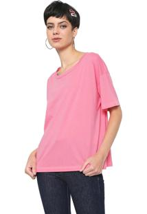 Camiseta Colcci Neon Lettering Pink