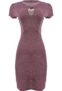 Vestido Aleatory Trançado Feminino - Feminino-Vinho