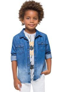 Camisa Infantil Masculina Azul