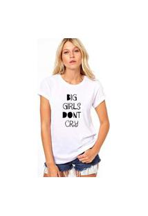 Camiseta Coolest Big Girl Don'T Cry Branco