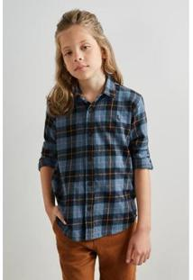 Camisa Pf Folk Reserva Mini Infantil Masculina - Masculino-Azul