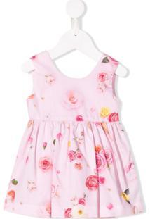 Lapin House Vestido Com Estampa Rose - Rosa