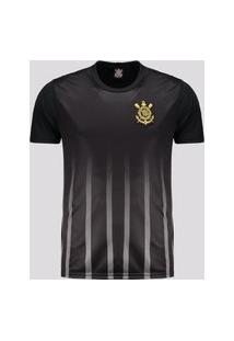 Camisa Corinthians Golden Preta E Chumbo