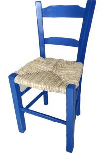 Cadeira Lagiana Pequena Eucalipto Azul Palha - 31283 - Sun House