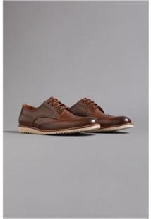 Sapato Brogue Nordic Oficina - Masculino-Marrom