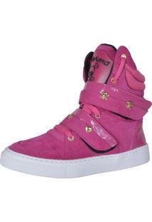 Sneaker Fitness Cheia De Marra 1001 Rosa