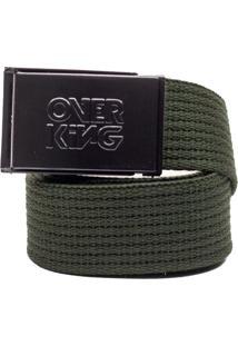 Cinto Overking Basico Fivela Preta / Verde Militar