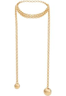 Bottega Veneta Geometric Pendants Necklace - Dourado
