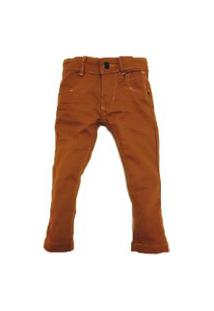 Calça - Megan - Jeans - Marrom