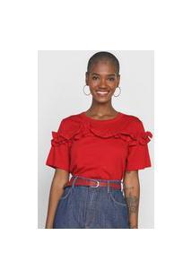 Camiseta Forum Babados Vermelha