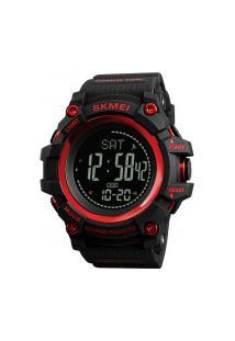 Relógio Skmei Digital -1356- Preto E Vermelho