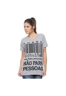 Camiseta Bossa Brasil Rótulos Mescla