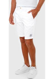 Bermuda Calvin Klein Jeans Chino Color Branca - Branco - Masculino - Algodã£O - Dafiti