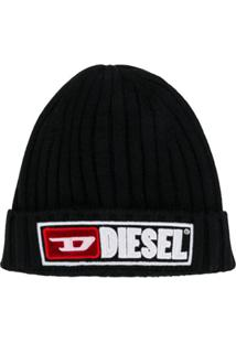 Diesel Kids Gorro Com Logo - Preto