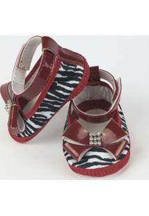 Danda Nenê Sapato Bebê - Feminino-Vermelho