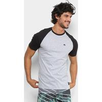b2ec0e08fe4f9 Camiseta Quiksilver Raglan Everyday Masculina - Masculino-Cinza