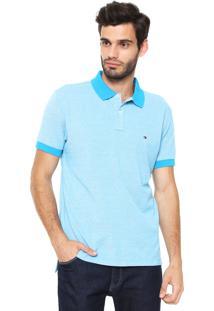 7c50948b71 Camisa Polo Tommy Hilfiger Reta Essential Oxford Azul