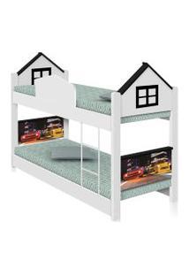 Beliche Infantil Casa Veloz Com Colchões Casah