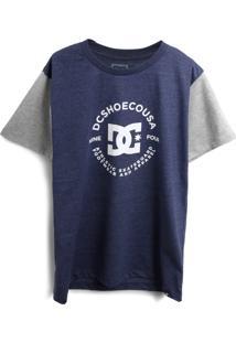 Camiseta Dc Shoes Menino Estampa Azul-Marinho