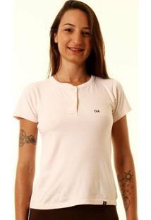 Camiseta Oitavo Ato Henley Feminina - Feminino-Rosa