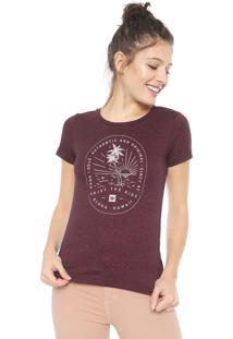 Camiseta Hang Loose Tropic Vinho