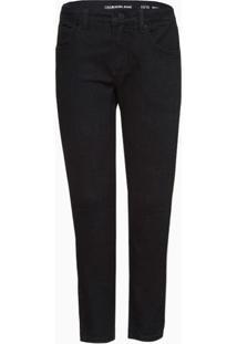 Calça Jeans Infantil Masculina Super Skinny Cintura Média Preta Calvin Klein - 10