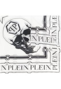 Philipp Plein Cachecol Com Estampa De Caveira - Branco