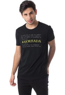 Camiseta A Jornada Gola Redonda Thiago Brado 1107000004 Preto