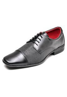 Sapato Social Com Cadarço Top Flex Preto