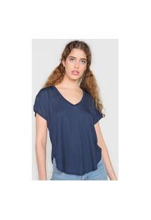 Camiseta Volcom Blanks Stone Azul-Marinho