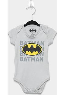 Body Infantil Marlan Batman Bebê - Masculino-Cinza