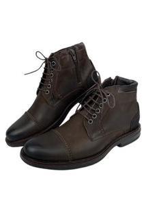 Sapato Anatomic Gel Vintage Brown Camurça Brown - Ref: 8782