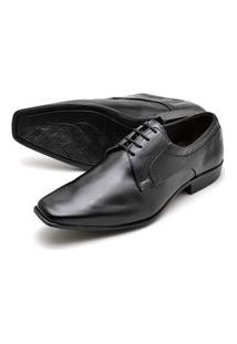 Sapato Social Masculino De Amarrar Em Couro Preto
