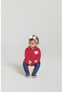 Casaco Time Kids Inverno Coração Vermelho