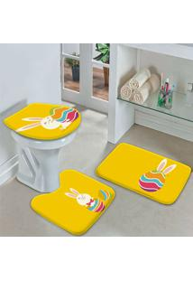 Jogo Tapetes Para Banheiro Cute Yellow