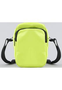 Bolsa Feminina Transversal Pequena Com Bolso Amarela Neon - Único