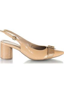 5268b837a Sapato Chanel Feminino Lua Luara Nude Fivela