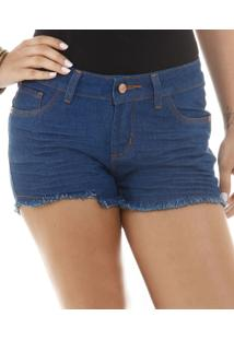 Short Feminino Em Jeans Com Pesponto Marisa