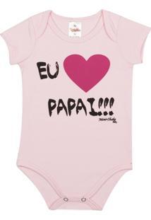 Body Infantil Eu Amo O Papai Mini Shake Algodão Feminina - Feminino
