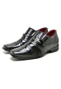 Sapato Social Masculino Mb Outlet Preto Verniz Solado Vision