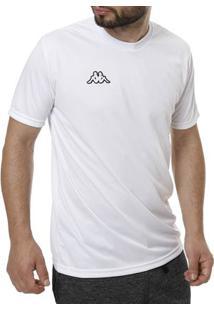 Camiseta De Futebol Masculina Kappa Branco bffb31955b641