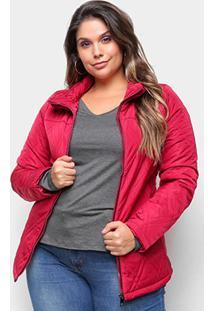Jaqueta Belina Plus Size Nylon Feminina - Feminino-Vermelho
