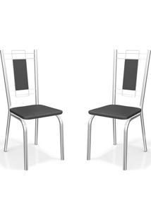 Kit Com 2 Cadeiras Florença Preto Kappesberg