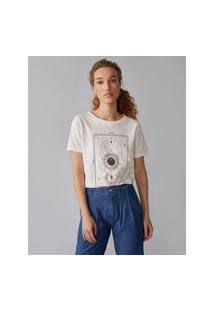 Amaro Feminino T-Shirt Tarot The Future Is Bright, Off-White