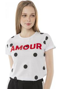 Camiseta T-Shirt Amour Poá Pop Me Branco